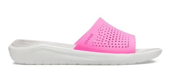Sandalia Dama Crocs Literide Slide Fucsia