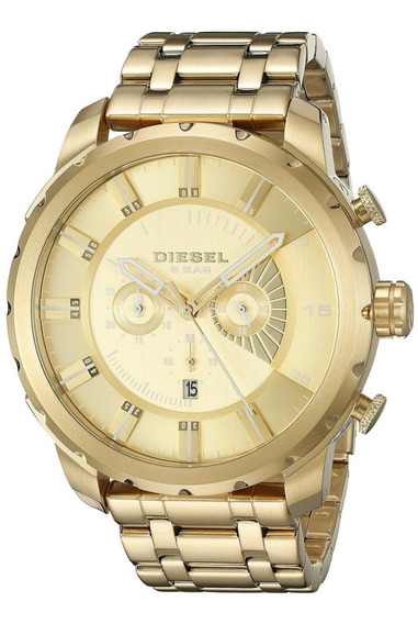 Relógio Diesel Masculino Dz4376/4dn Aço Dourado Cronografo