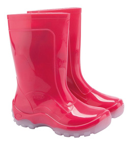 Bota Infantil Impermeável Pink Galocha Pvc / Borracha Leve