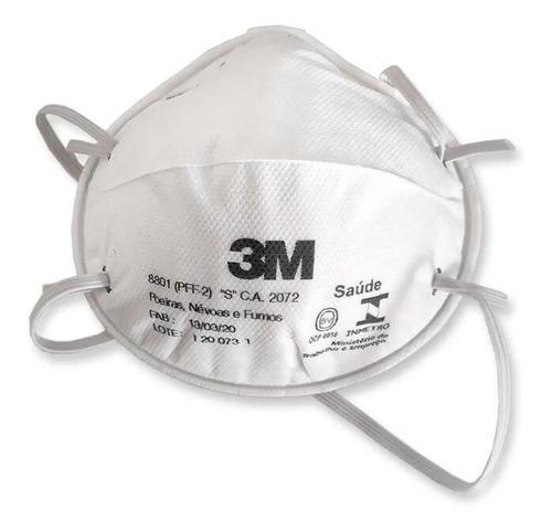 Máscara Respirador 3m 8801 Descartável Tipo Concha - 10 Unid