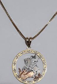 Corrente De Ouro 18 K Unissex Veneziana 60cm Pingente E Nota
