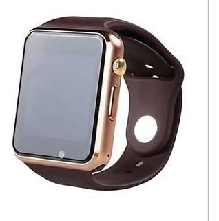 Smartwatch Marrom Relógio Bluetooth Android Touc Screen Tela