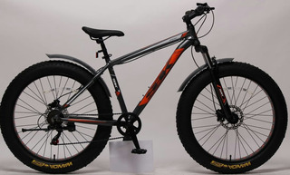 Bicicleta Fat Bike R.26 Alum 7 Veloc. F. Disco, Horq Suspen
