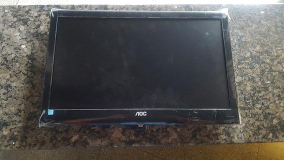 Monitor Aoc E2050swn Com Tela Quebrada!