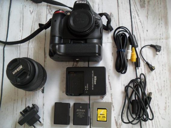 Nikon D5100 +grip +2 Baterias +fundo Fotog. Só 4 Mil Clicks
