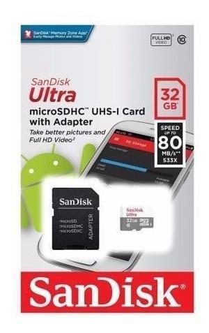 Cartão De Memória Sandisk 32gb Ultra ®microsdhc