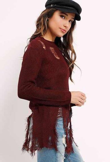 Suéter Sweater Active Usa Moda Desgarrado