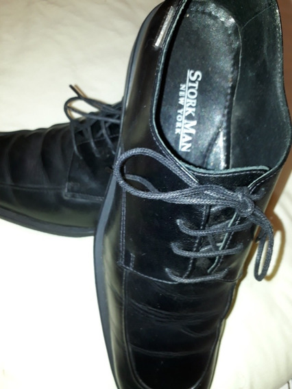 Zapatos Stork Men N° 43 Negro Una Sola Postura
