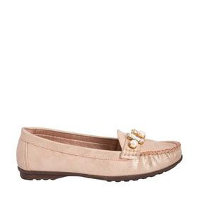 Zapato De Piso Dama Confortable Cerrado Durazno