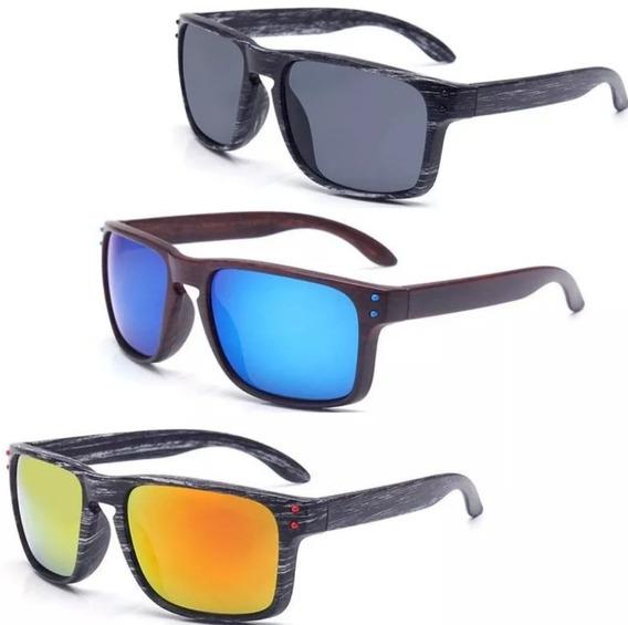 Óculos De Sol Quadrado Masculino/feminino Polarizado +brinde