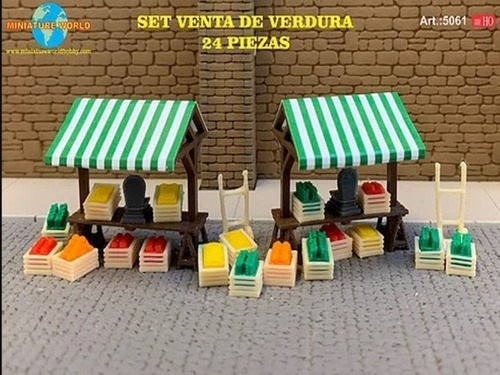 Imagen 1 de 6 de Nico Set De Venta De Verduras Art.5061 M. World H0 (mntw 91)