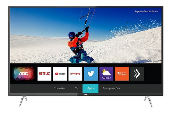 Smart Tv Led 4k Aoc 50 Polegadas Uhd 4 Hdmi Usb Wi-fi