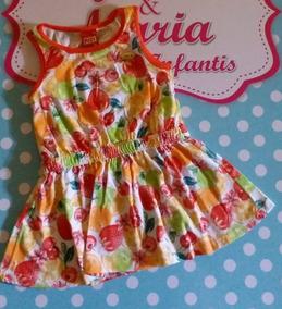 Vestido Infantil Estampa Frutas Kyly