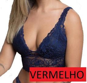 Blusa Top Cropped Renda Sutiã Cropped Tumblr Regata Feminina