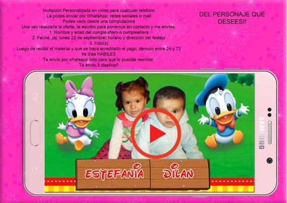 Invitaciones En Formato Video Para Repartir Por Whatsapp
