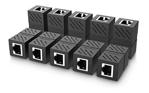 Imagen 1 de 7 de Ugreen Rj45 Acoplador 10 Paquete En Acoplador De Linea Cat7