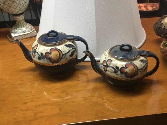 Par De Teteras Antiguas De Porcelana Inglesa