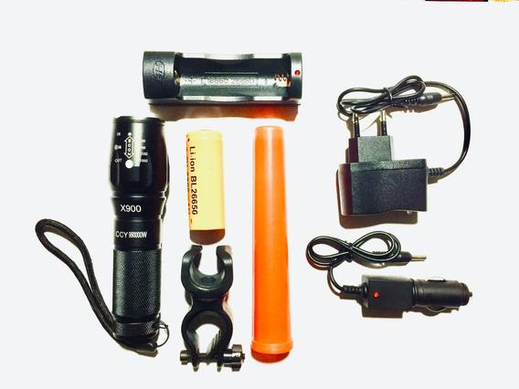 Lanterna Tática Militar Led X900 100% Original + Suporte