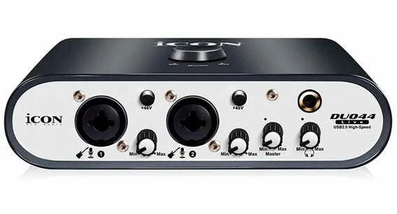 Placa De Audio Interface Icon Duo44live - 2 Canais Com Midi