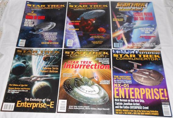 Star Trek Communicator Lote Spaceships 6 Revistas Importadas