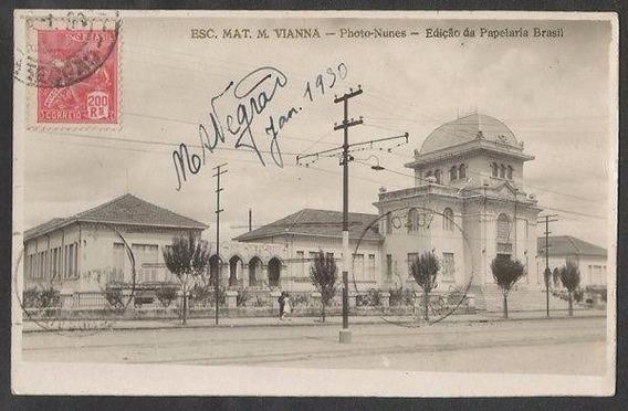 Rs - Porto Alegre, Escola Mat. M. Vianna - Cartão Postal Ant
