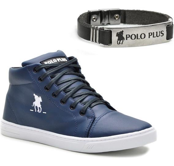 Tênis Masculino Polo Plus Treino Academia + Brinde Pulseira