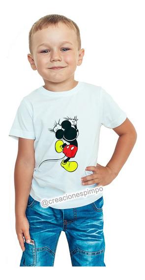 Camiseta Niño Mickey Mouse Moda Lifestyle Poliester Cpr7