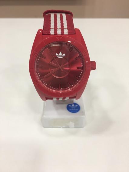Relógio De Pulso adidas Adh2661z Vermelho Clássico Original