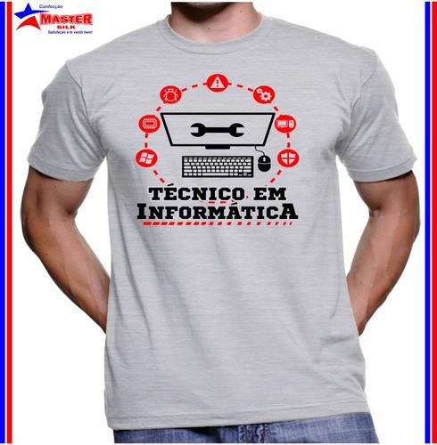 Kit 5 Camiseta Curso Técnico Informática Opções/tamanho/cor