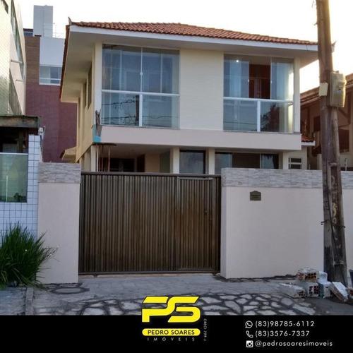 Casa Com 3 Dormitórios Para Alugar, 390 M² Por R$ 6.000/mês - Bessa - João Pessoa/pb - Ca0659