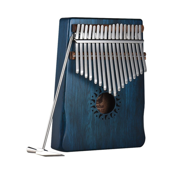 17- Chave Portátil Kalimba Mbira Polegar Piano Mogno Sólido