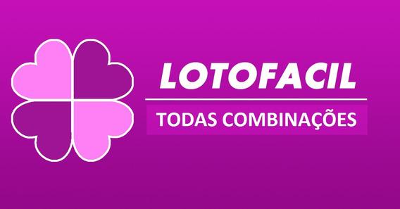 Todas As Combinações Da Lotofacil