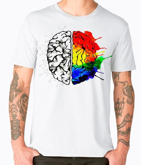 Playera Cleen Alexer Moda Hipster Cerebro Colorido Mod 43