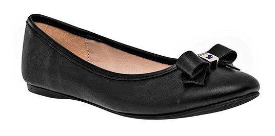 Zapato Flats Dama Pk 71360 Ferrioni Negro