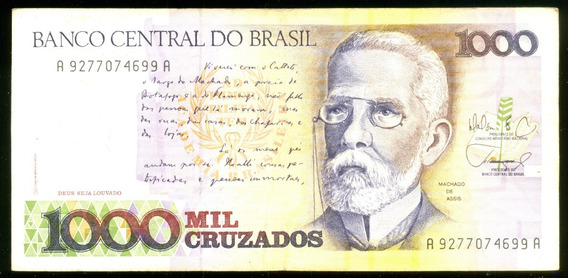 1000 Cruzados 1987 Brasil Veja + Cédulas Notas Antigas