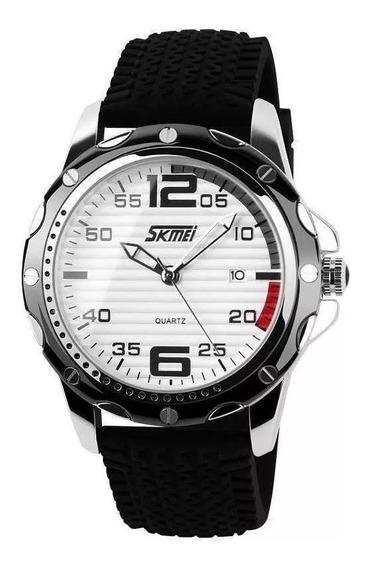 Relógio Masculino Skmei Analógico 0992preto E Branco