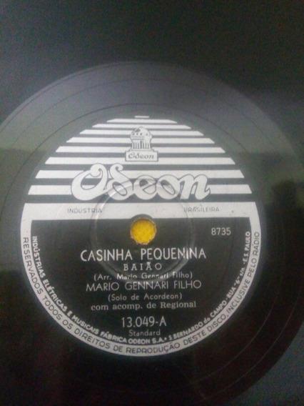 Disco Antigo 78 Rpm Mario Gennari Filho