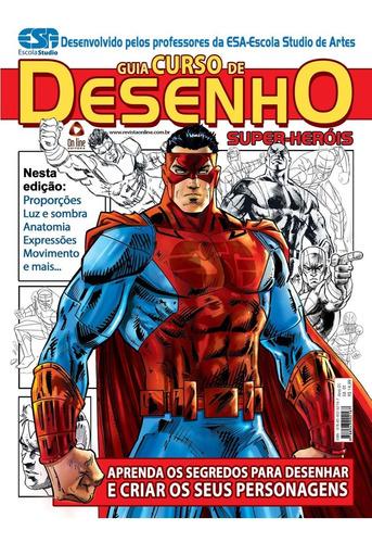 Livro Guia Curso De Desenho: Super-heróis