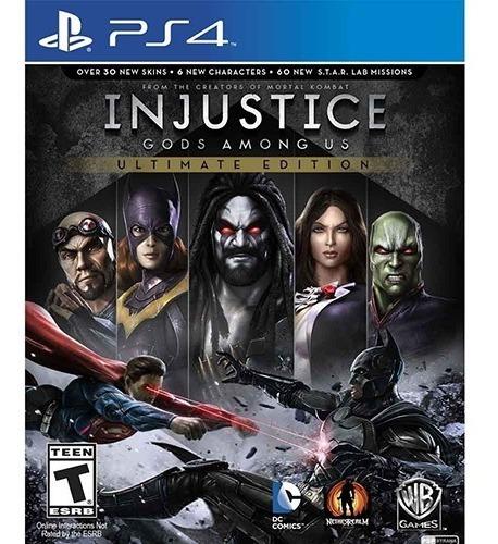 Jogo Injustice Ultimate Edition Ps4 Mídia Física Dublado Br