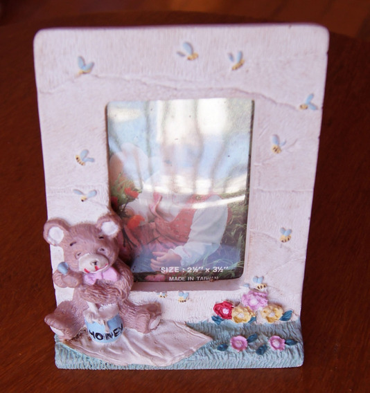 Porta Retrato Infantil Urso Biscuit 10 X 13 Cm