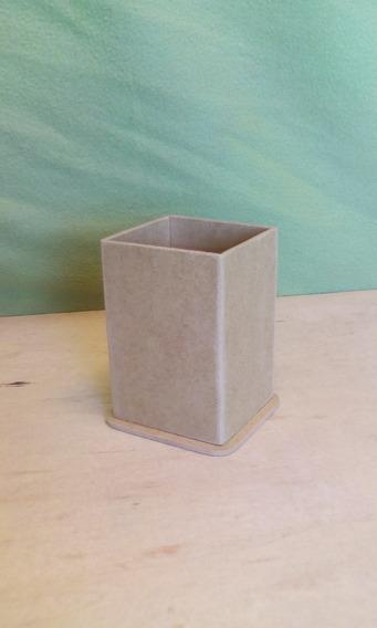 10 Lapiceros Portalápices 7x7x10 Cm Con Base Fibrofacil