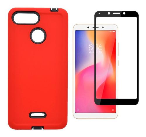 Estuche Xiaomi Redmi 6 + Vidrio Templado 6d