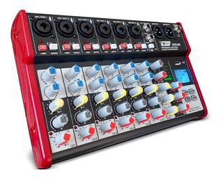 Consola De Sonido 8 Canales Bluetooth Mp3 Fx Grabación