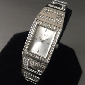 Relógio Guess Feminino Original Prata Cristais Delicado Novo