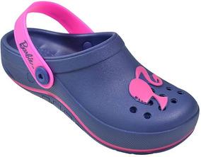 Crocs Infantil Femenino Barbie Grandene Original Com Gliter