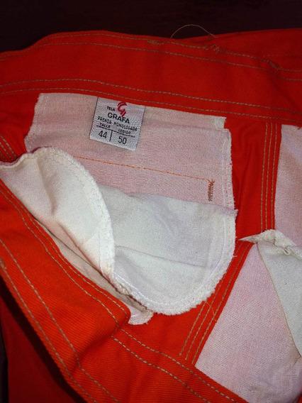 Pantalón De Trabajo Grafa, Color Naranja,(solo Este Talle)
