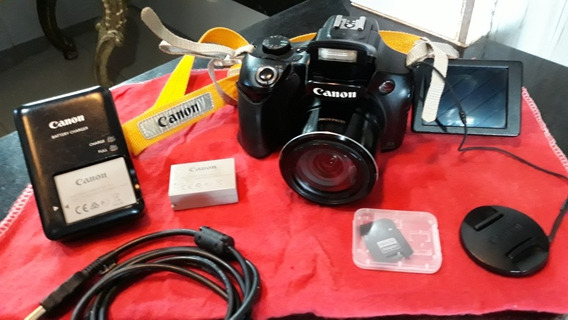 Câmera Canon Sx 60hs 16.1 Mp Zoom 65x Full Hd Wifi