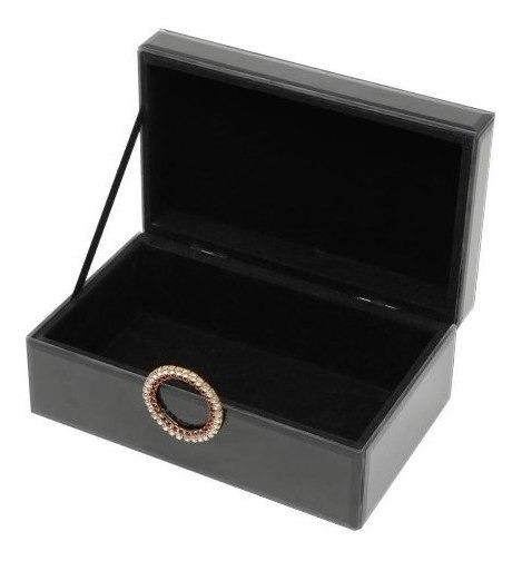 Porta-jóias De Madeira C/espelho E Puxador 21x13x8,5cm