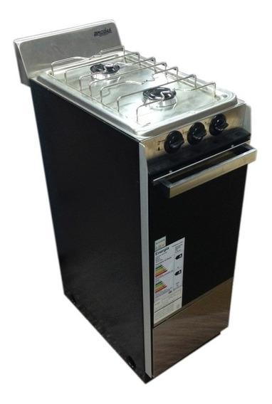 Cocina Brogas 2 Hornallas Y Horno A Gas Natural O Envasado