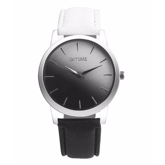 Reloj Unisex Negro Y Blanco